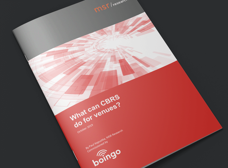 "Boingo's whitepaper: ""What can CBRS do for venues?"" cover"