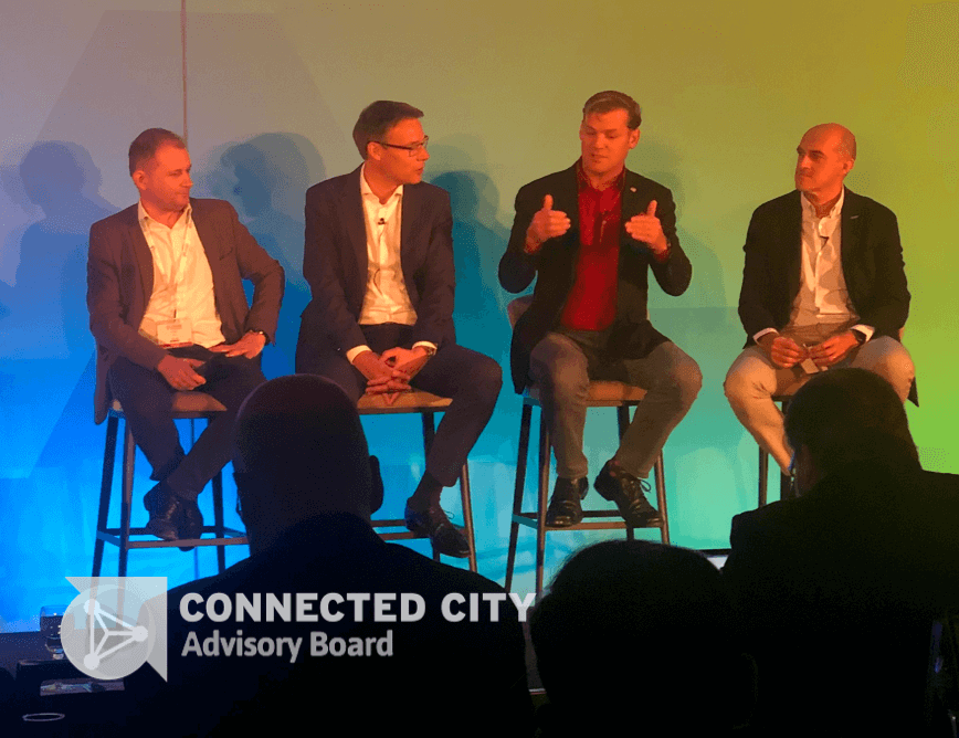 Boingo's CTO speaking at a Connected City event