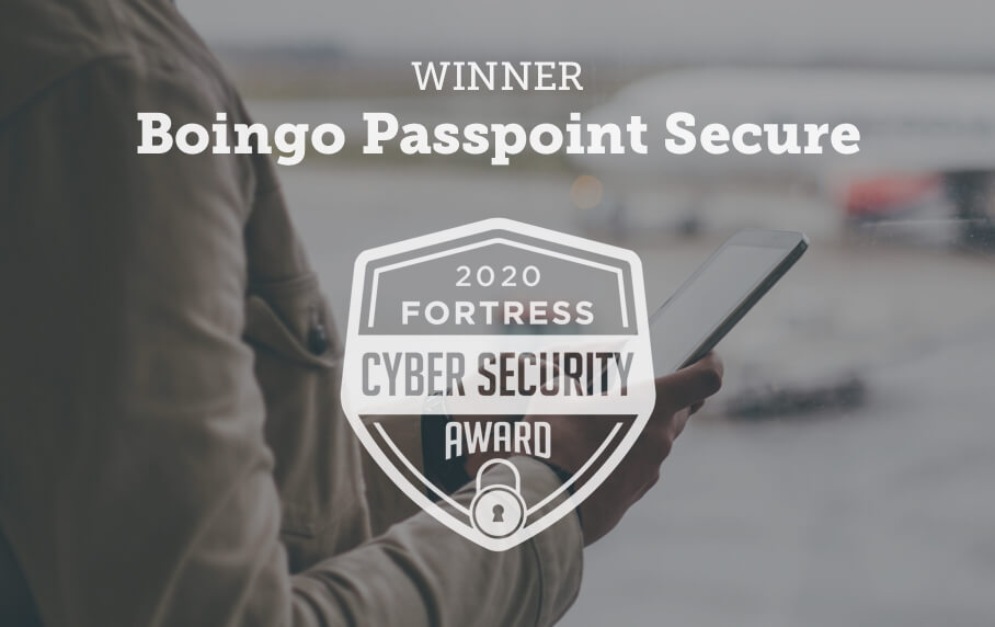 Boingo Passpoint Secure - Winner of the 2020 Fortress Cyber Security Award
